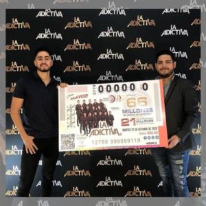 """""""La Adictiva"""" presente en el Billete de Lotería"""