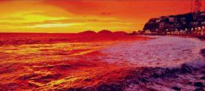 El bello atardecer dorado que impactó a Mazatlán